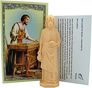 Religious Gifts Saint Joseph Statue Home Seller Kit with Prayer Card and Instructions