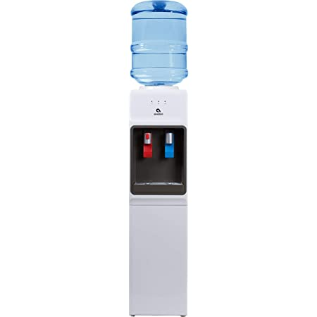 Avalon A1watercooler A1 Top Loading Cooler Dispenser Hot Cold Water Child Safety Lock Innovative Slim Design Holds 3 Or 5 Gallon Bottles Ul Energy Star Approved White Appliances