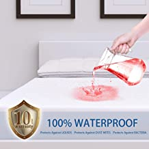 ZAMAT Premium 100% Waterproof Mattress Protector, Breathable & Noiseless Mattress Pad Cover, Fitted 14