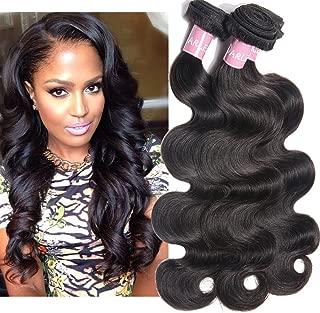 Darlena 8A Brazilian Virgin Hair Body Wave 3 Bundles 16 18 20 inch Virgin Human Hair Bundles Brazilian Hair Weave Total 300 Grams Natural Color