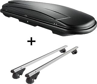 Dachbox VDPJUXT600 600Ltr abschließbar + Alu Relingträger VDP004L kompatibel mit Opel Zafira A 99 '04