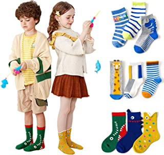 Baby Socks -3 Pairs Toddler Socks Infant Socks Cartoon Pattern Girls Boys Cotton Socks