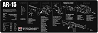TekMat AR-15 Cleaning Mat/12 x 36 Thick, Durable, Waterproof/Long Gun Cleaning Mat with Parts Diagram and Instructions/Armorers Bench Mat