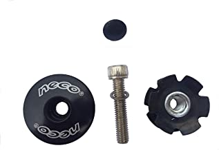 Neco 1-1/8 inch MTB Mountain Road Bike Headset Stem Plug Alloy Top Cap Bolt + Star Nut