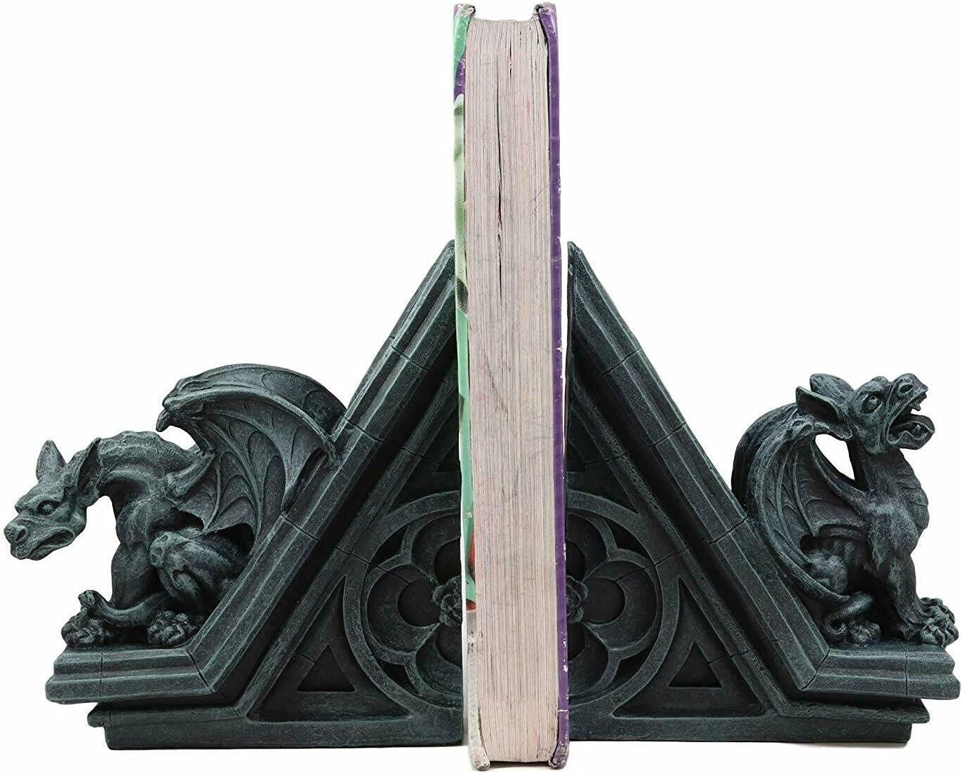Gothic Gargoyles On Bookends Set 7