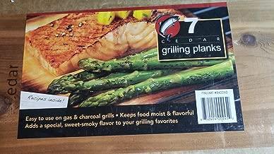 Coastal Cuisine Cedar Grilling/Barbecue Planks Set of 7