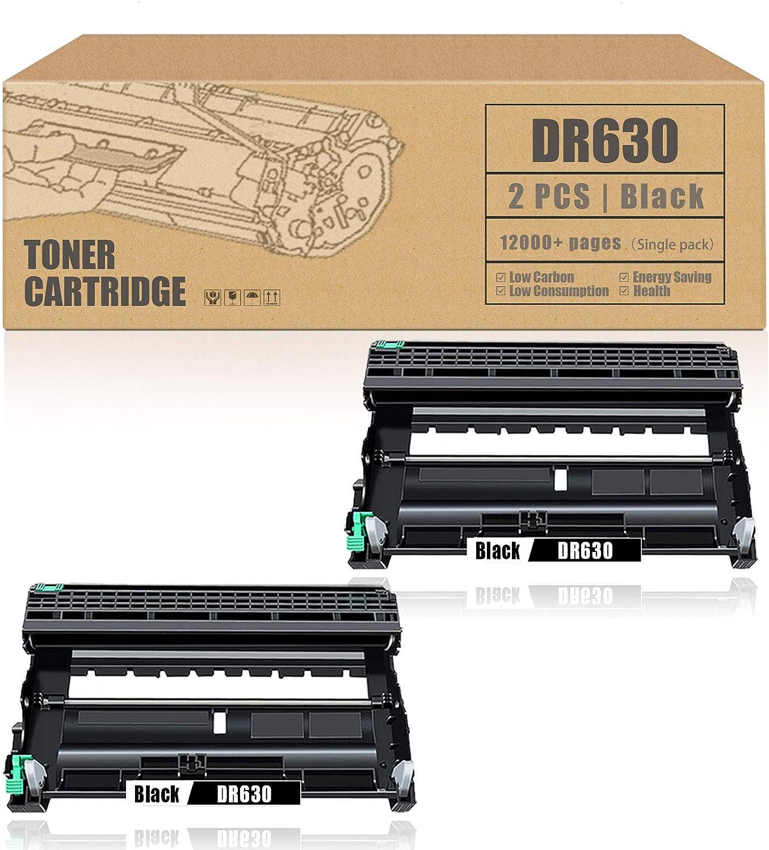 DR-630 DR630 Drum UnitCompatibleReplacementforBrother MFC-L2700DW DCP-L2520DW HL-L2300D HL-L2305W HL-L2320D HL-L2380DW MFC-L2680W MFC-L2685DW Printer [2Pack,Black]
