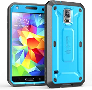 Galaxy S5 Case, SUPCASE [Heavy Duty] [Unicorn Beetle Pro Series] Full-body Rugged Case with Built-In Screen Protector for Samsung Galaxy S5 Case, Dual Layer Design Impact Resistant Bumper (Blue/Black)