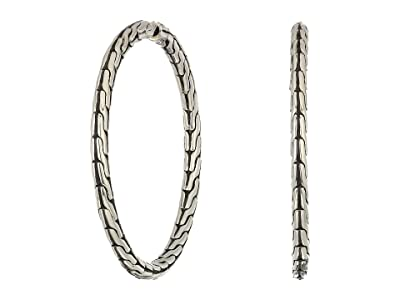 John Hardy Classic Chain Medium Hoop Earrings (Silver) Earring