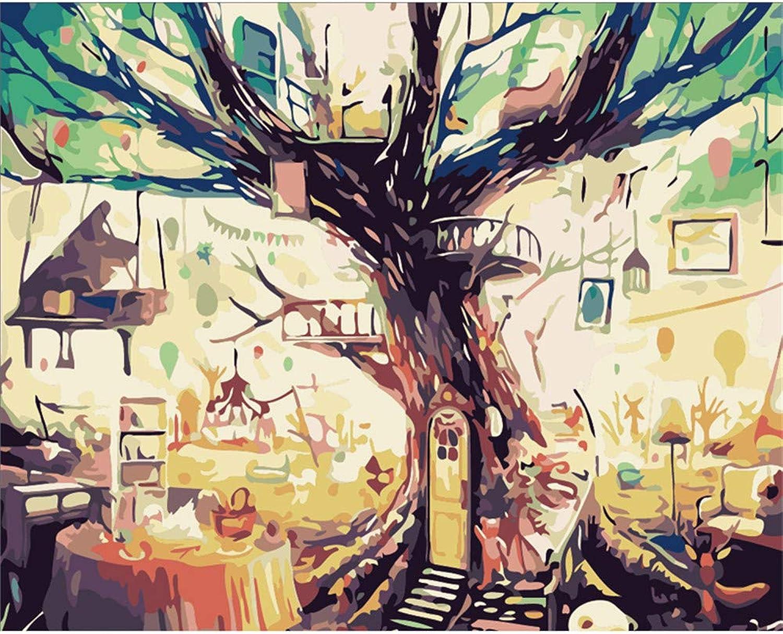 Malen Nach Zahlen Klavier Esstisch Unter Dem Großen Baum Home Decor DIY Für Erwachsene-Framed B07Q358LC4 | Deutschland Online Shop