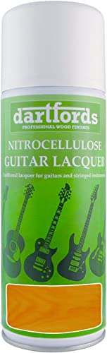 Dartfords Vernis teinté en nitrocellulose pour guitare - Ambre - Boîte 1litre 400 ml Aerosol Spray Can Amber