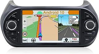 YUNTX Android 10 Auto Stereo Fit voor Fiat Fiorino/Qubo/Citroen Nemo/Peugeot Bipper -7 inch 2G/32G - 1 Din Hoofdeenheid me...