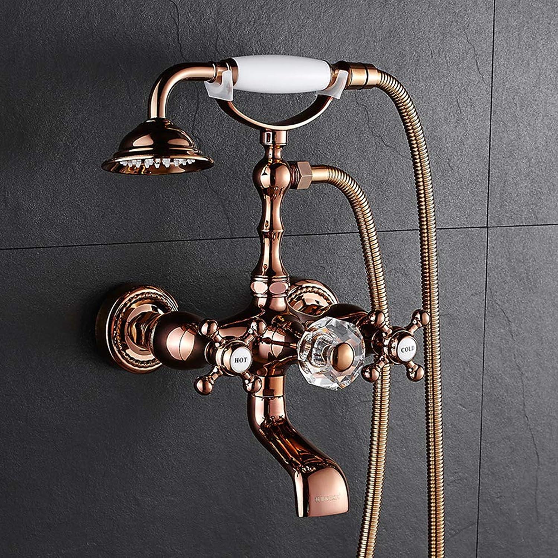 Antique Shower European Shower Nozzle Retro Thermostatic Shower Copper Faucet