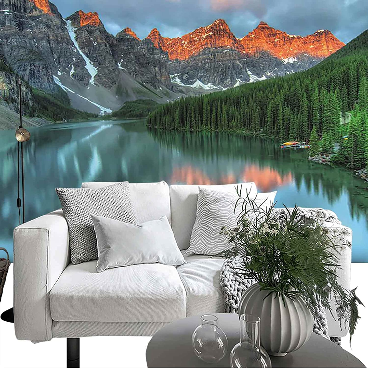Removable Wallpaper Cottage Decor Collection Sale item Moraine at low-pricing Sunrise