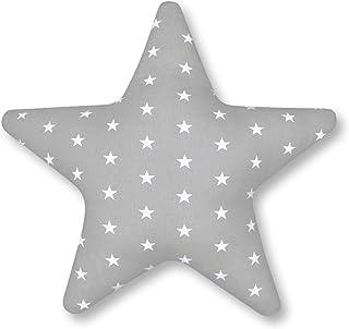 Amilian® Cojín gris con forma de estrella, cojín decorativo, suave, mullido60 cm