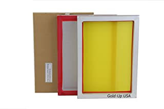 Aluminum Screen Printing Screens, Size 10 x 14 Inch Pre-Stretched Silk Screen Frame (160 White Mesh)