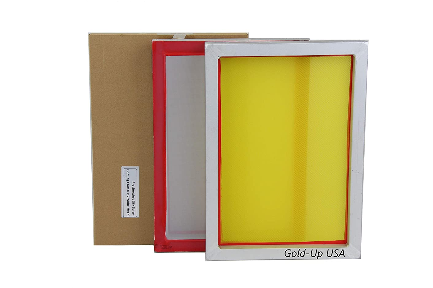 Aluminum Screen Printing Screens, Size 9'' x 14'' Pre-Stretched Silk Screen Frame (230 Yellow Mesh)