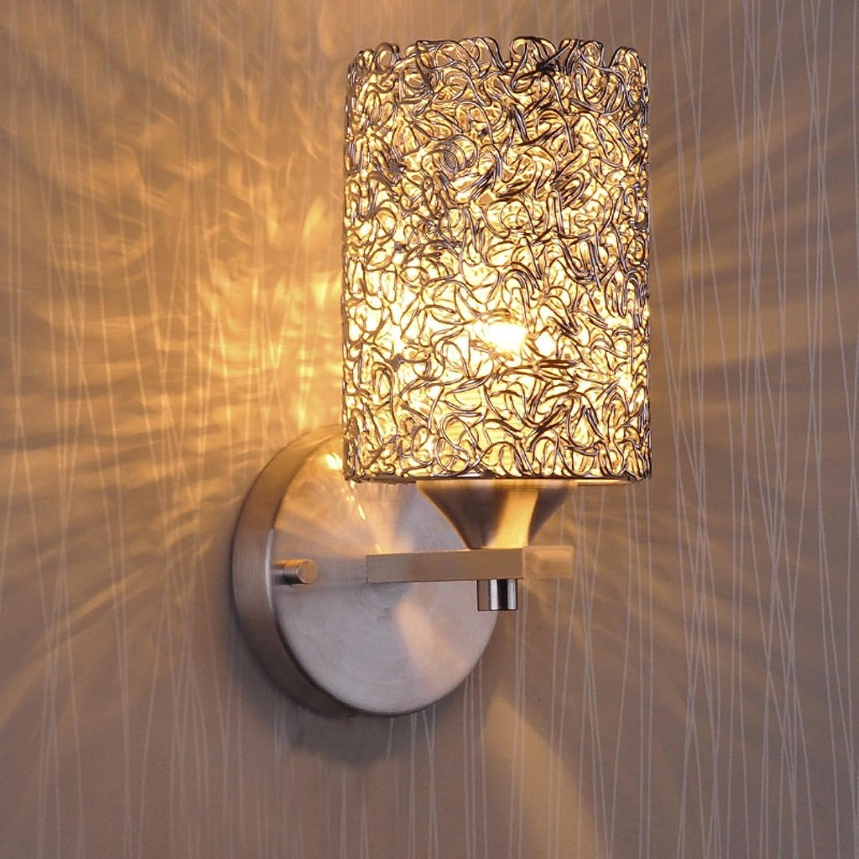 ZH Wandleuchten Wandleuchte Moderne Minimalistische Kreative LED Wandleuchte Wandleuchte Wohnzimmer Schlafzimmer Nachttischlampe Treppenflur Lichter Warm E27 Licht (Ohne E27 Lichtquelle)