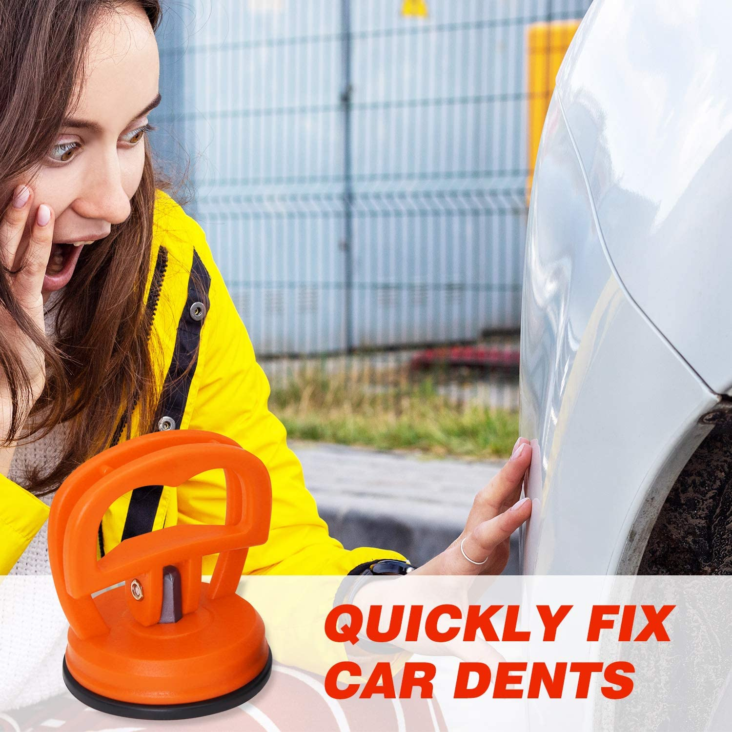 Dent Puller Small Lifting and Objects Moving Tiles Dent Remover Tool Mirror Small Car Dent Repair Glass Suction Cup Lifter for Cars Dent