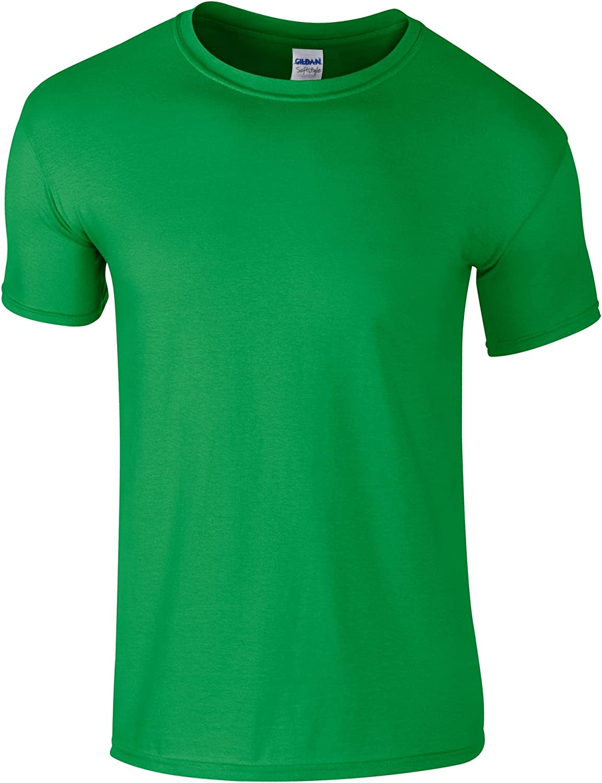 Gildan Childrens Unisex Soft Style T-Shirt (Pack of 2) (L) (Irish Green)