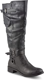 Twisted Women's Chloe Faux Leather Knee-High Wide Calf Boot
