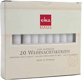 Box of 20 White Chime Candles by Eika 4 Inch