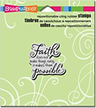 """Stampendous CRD191 N/A Cling Stamp 3.5""""X4"""" -Faith Possible"""