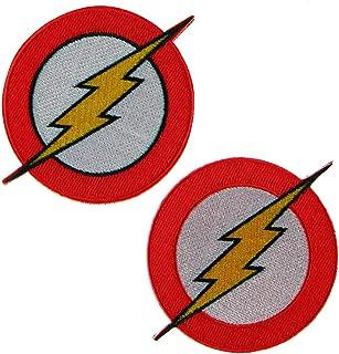 LiZMS Iron Sew on Applique Patch : 2 PCs Super Hero Justice League - Flash