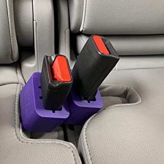 2-Pack Seat Belt Buckle Booster (BPA Free) - Raises Your Seat Belt for Easy Access - Stop Fishing for Buried Seat Belts - Makes Receptacle Stand Upright for Hassle Free Buckling (2)
