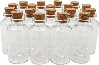 Axe Sickle 24PCS 1 oz Cork Stoppers Glass Bottles DIY Decoration Mini Glass Bottles Favors 30ml Cork Bottle Message Glass Bottle Jars Corks Small Glass Wishing Bottles for Wedding Party Favors.