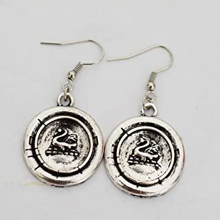 Once Upon a Time Character Emma Swan Inspired Earring Swan Earrings - Swan - Gift for Her