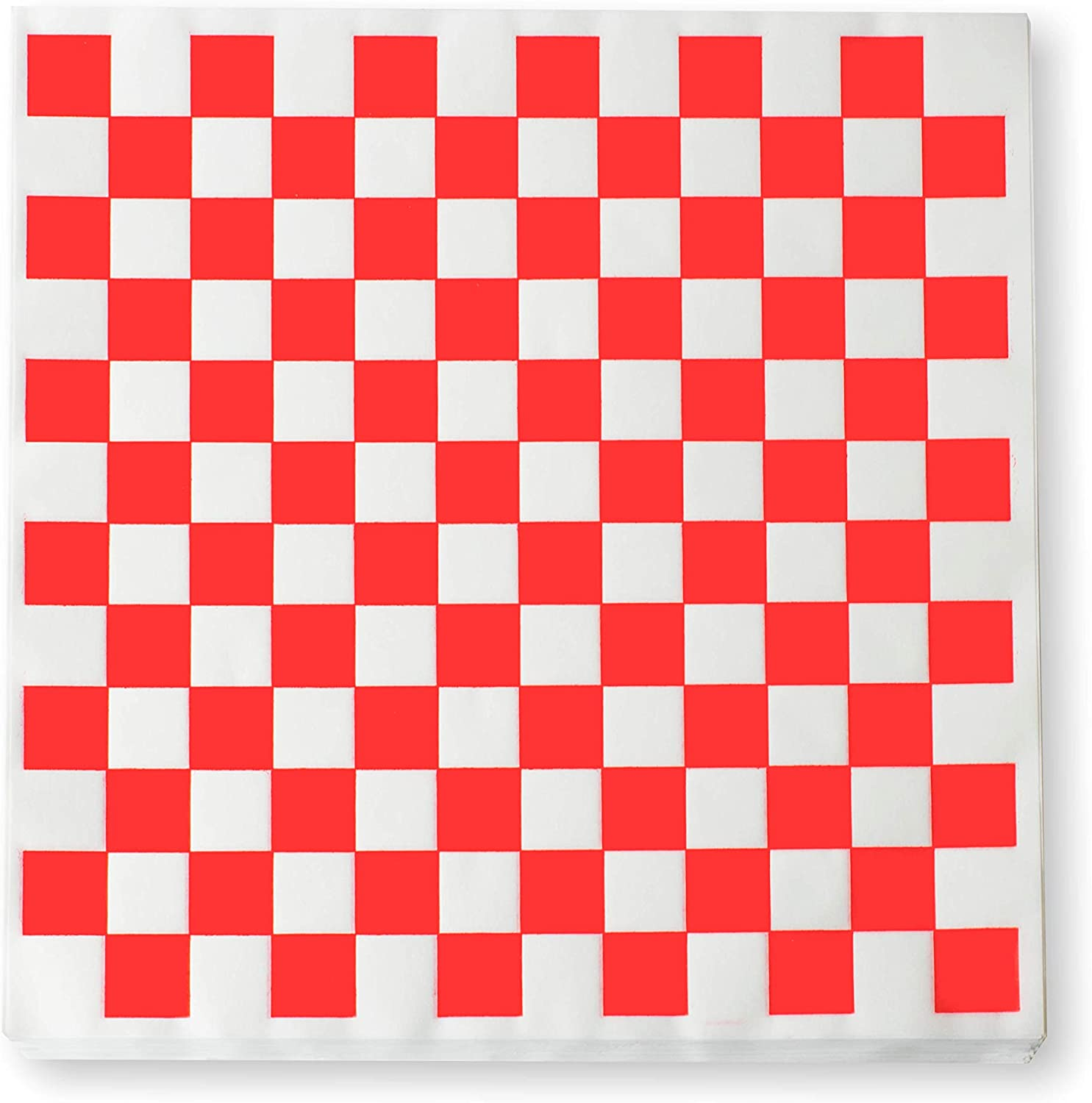Max 41% OFF 1000 Sheets of Red and White Checkered Daily bargain sale Bask Grease - Resistant