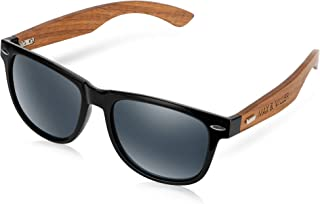 Max & Miller Wood Sunglasses for Men Women with real Hardwood Temples ARCADIA