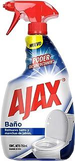 Ajax atomizador, Limpiador Líquido para baño, Con poder desinfectante*, Remueve sarro y manchas**, Para limpieza de: inodo...