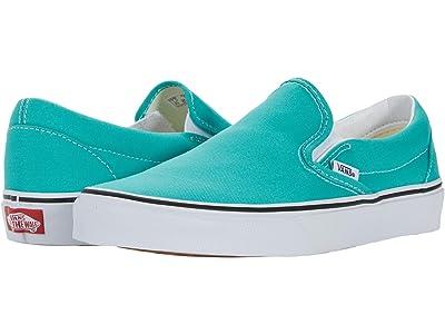 Vans Classic Slip-On (Waterfall/True White) Skate Shoes