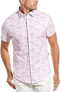 Stone Rose Men's Cotton Knit Mushroom Print Short Sleeve Shirt