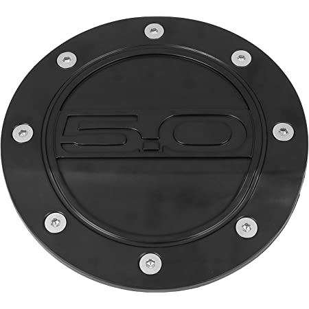 X AUTOHAUX Black Gas Cap Fuel Filler Door Cover for Ford F150 2009-2014