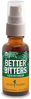 Herb Pharm Better Bitters Certified Organic Digestive Bitters, Absinthium, 1 Ounce