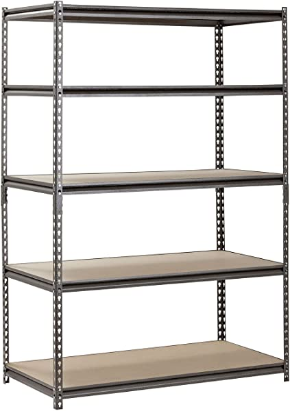 Hardware Outdoor Heavy Duty Garage Shelf Steel Metal Storage 5 Level Adjustable Shelves Unit 72 H X 48 W X 24 Deep