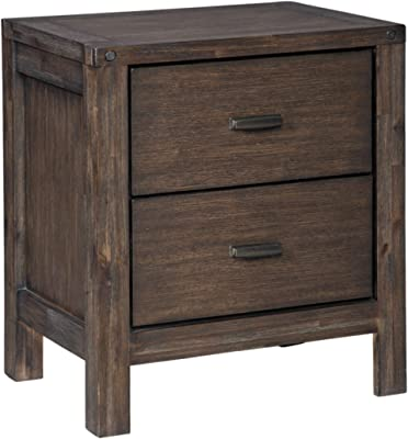 Signature Design by Ashley Dellbeck Two Drawer Night Stand, Dark Brown