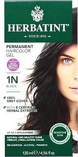 Herbatint 1N Permanent Herbal Black Haircolor Gel Kit - 3 per case.