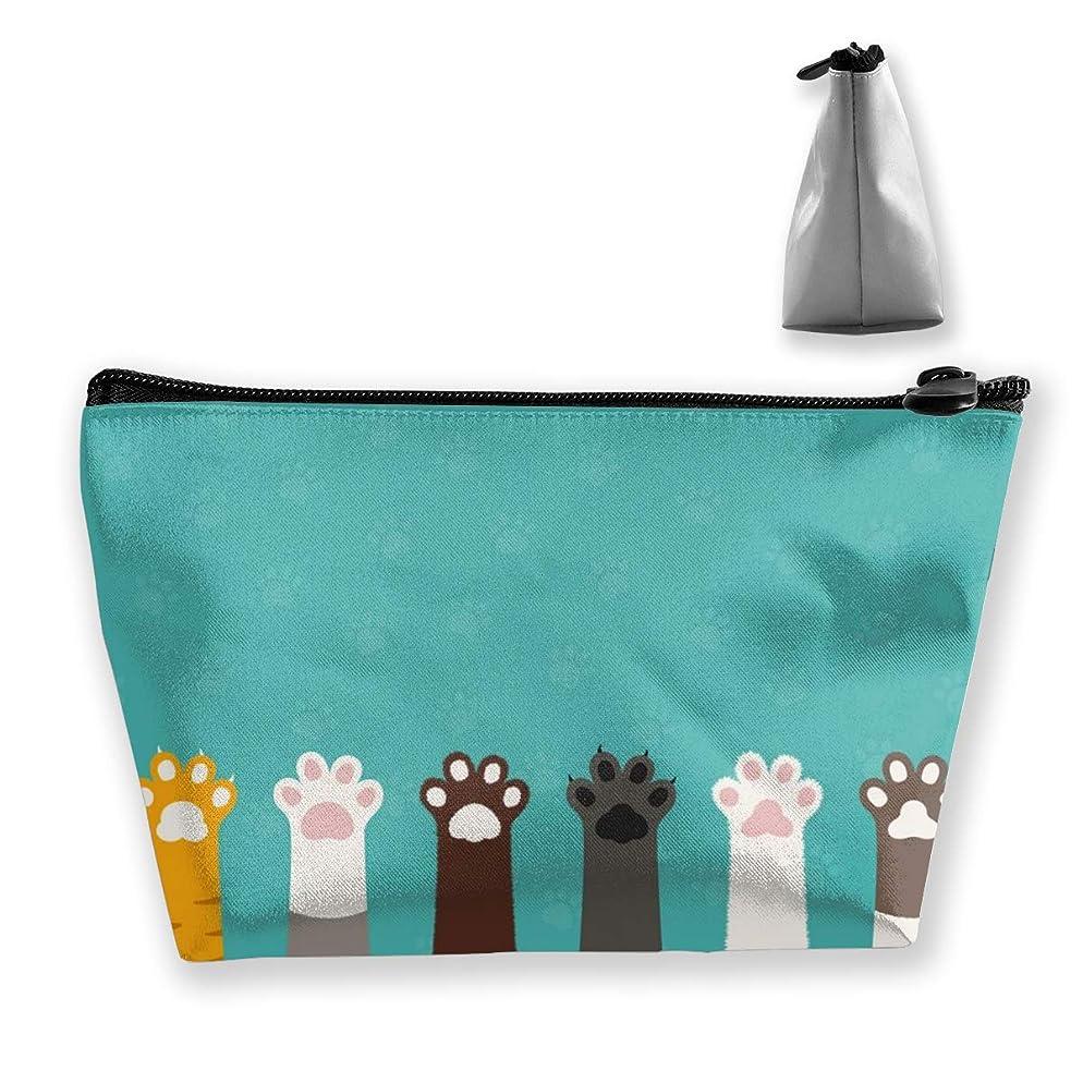 かわいい動物猫の足 ペンケース文房具バッグ大容量ペンケース化粧品袋収納袋男の子と女の子多機能浴室シャワーバッグ旅行ポータブルストレージバッグ