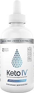 Keto IV Electrolyte Drops + High Potassium | No Leak Dropper Bottle | 500mg Potassium + Magnesium, Sodium & Zinc | Unflavo...