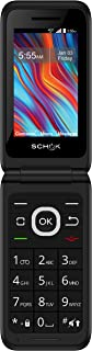 Schok Classic Flip Phone - Unlocked for All GSM Worldwide, 4G LTE, Number Pad, All-Day Battery, and Exchangeable Colors; B...