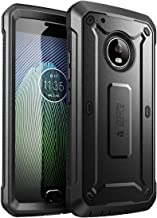 SupCase Full-Body Rugged Holster Case for Moto G5 Plus, with Built-in Screen Protector for Moto G Plus (5th Generation) 2017 Release, Unicorn Beetle PRO Series - Retail Package (Black/Black)