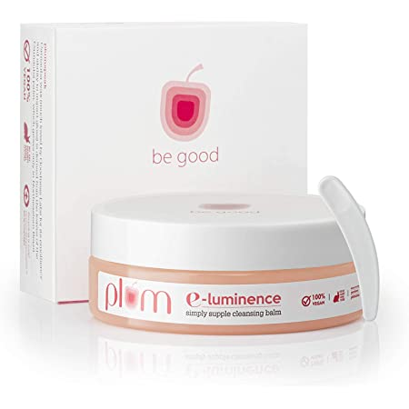 Plum E-Luminence Simply Supple Cleansing Balm | Gentle Makeup Remover | Enriched with Vitamin E | For Normal, Dry, Combination Skin | 100% Vegan, Cruelty Free