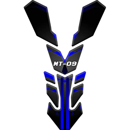 Tankpad Motorad Draht Muster Tankschutz Polymer Kompatibel Yamaha Mt 09 2019 Black Blue Auto