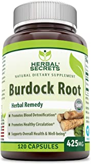 Sponsored Ad - Herbal Secrets Burdock Root 425 Mg Capsules (Non-GMO) - Promotes Blood detoxification * Promotes Healthy Ci...