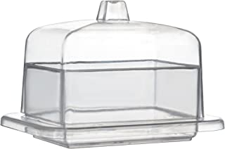 """Tiny Temptations Fineline 6703 Rectangular Tiny Dome with Lid, 3.5 x 2.7""""/2.5"""" Height, Clear, 10/12/120 Case"""