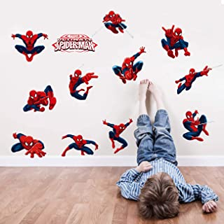 3D Art Removable Spiderman Boy Room Wall Sticker Home Decal, Peel and Stick Wall Decal for Kids Room Wall Decor